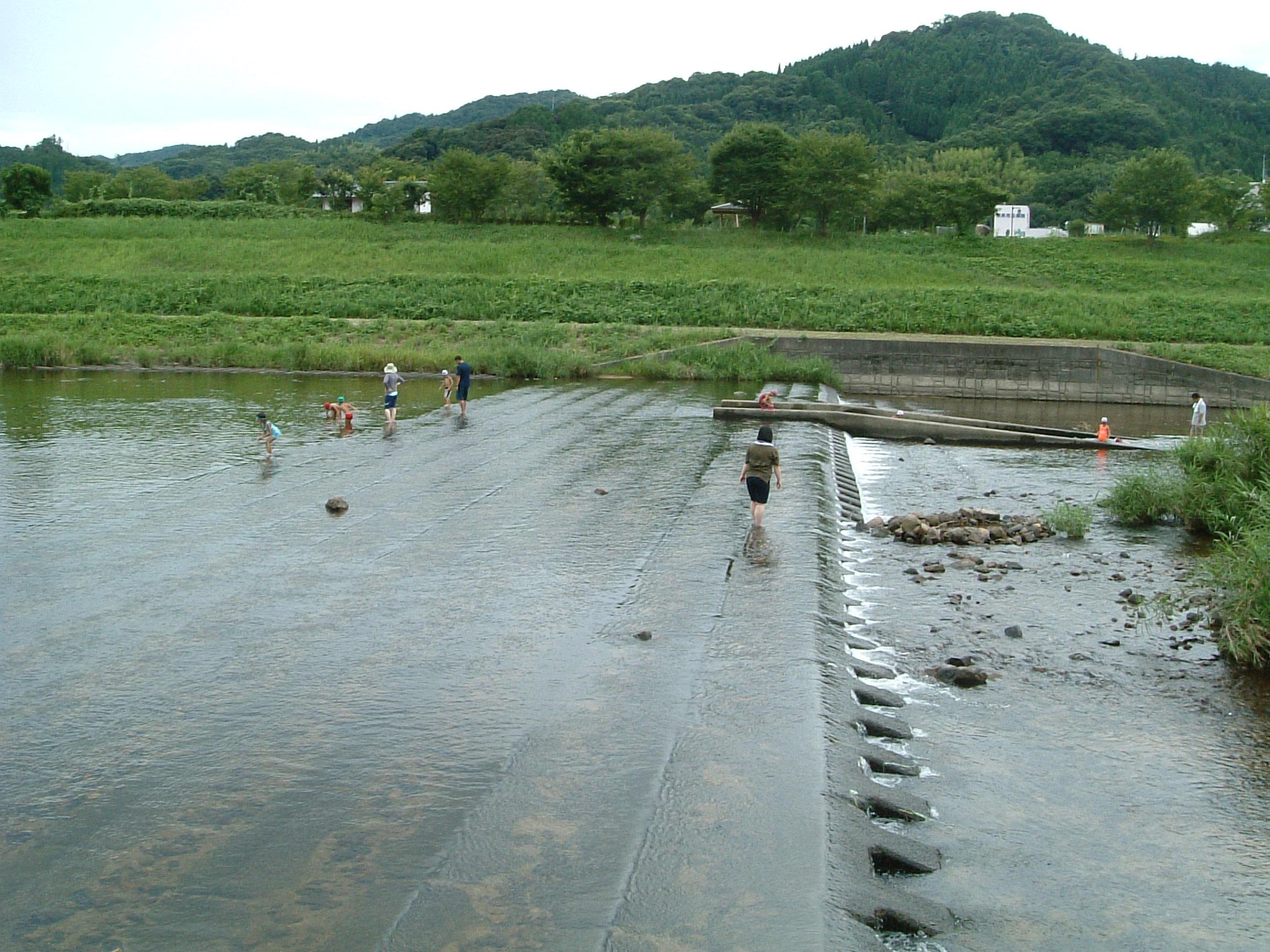 富田川での川遊び3
